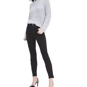 NWT Banana Rep High Rise Skinny Jeans 28 Black v11